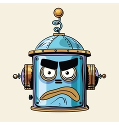 Emoticon angry emoji robot head smiley emotion vector