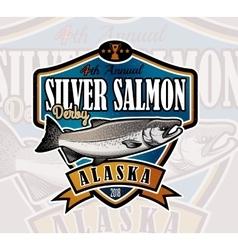 Fishing logo salmon fish icon vector