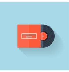 Flat web icon Vinyl vector image vector image