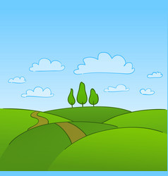 Green Countryside and Trees vector image vector image