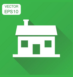 house icon business concept house pictogram on vector image