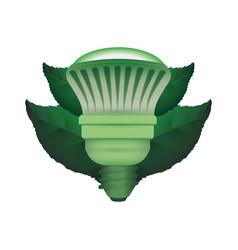 Light bulb environmentally friendly halogen vector