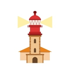 Lighthouse of nazare portuguese famous symbol vector
