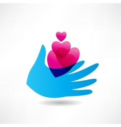 Love for others icon vector