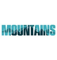 Mountains sign vector