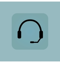 Pale blue headset icon vector