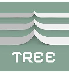Paper Tree Symbol vector image vector image