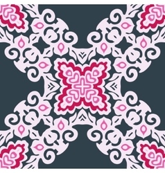 Pink abstract floral pattern vector