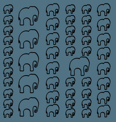 Seamless pattern with colorful elephants for vector