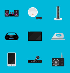 Set of 9 editable technology icons includes vector