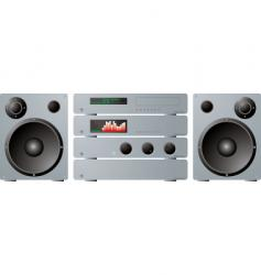 stereo separates plus speakers vector image vector image