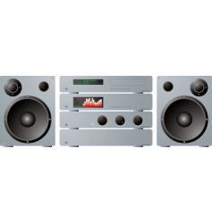 stereo separates plus speakers vector image