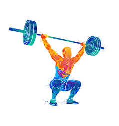 strong man powerlifting vector image