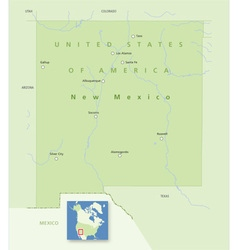 USA New Mexico vector image