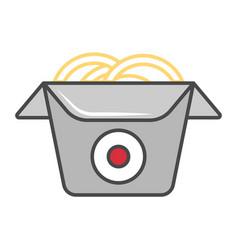 Wok box isolated icon vector