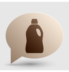 Plastic bottle for cleaning brown gradient icon vector