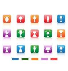champion cup buttons icon vector image