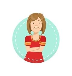 Disagreement emotion body language vector