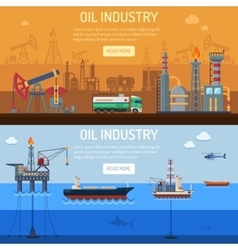 Oil industry Banners vector image