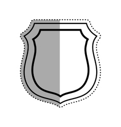 Isolated badge symbol vector