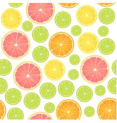 colorful citrus lemon seamless pattern vector image