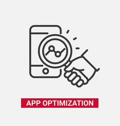 App optimization - modern line design icon vector