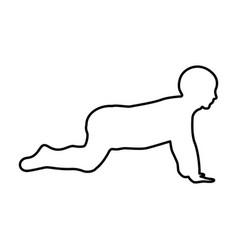 Crawling baby black color icon vector