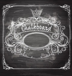 Vintage banner and chalk board vector image