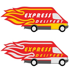 Express delivery symbols yellow-red and vector