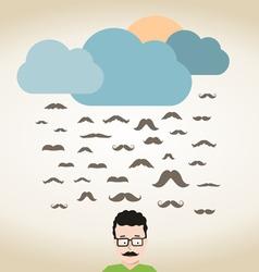 Rain mustache vector image