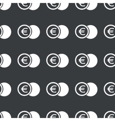 Straight black euro coin pattern vector