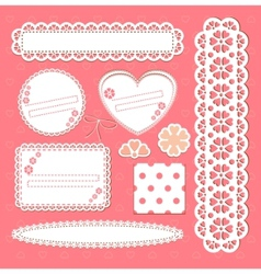 Cute lace frames vector