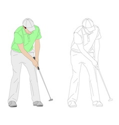 Golf player 3 vector