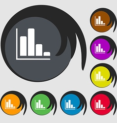 Infographic icon Symbols on eight colored buttons vector image