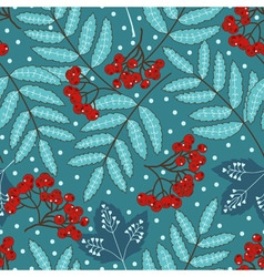 Stock seamless pattern with stylized leaves and vector