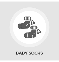 Children socks Flat Icon vector image
