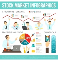 Stock market infographics vector