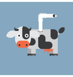 Cow and milk icon animal vector