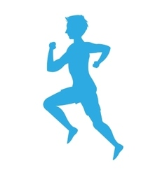 Man running silhouette icon vector