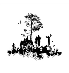 Family castle concept vector