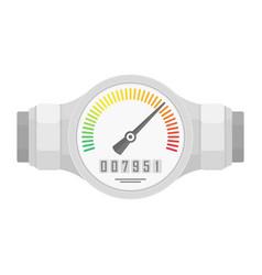 Analog water meter vector