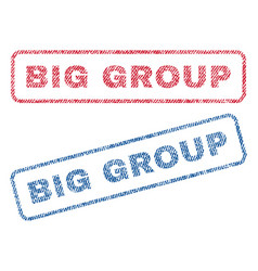 big group textile stamps vector image vector image