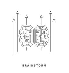 Brainstorm design flat concept vector