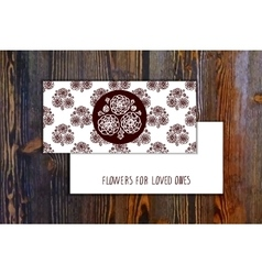 Card template with seamless pattern and floral vector image vector image