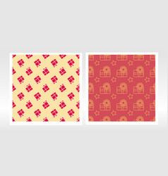 Christmas wrapping paper set seamless pattern vector