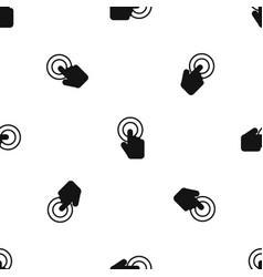 click pattern seamless black vector image