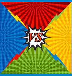 Comic confrontation bright background vector