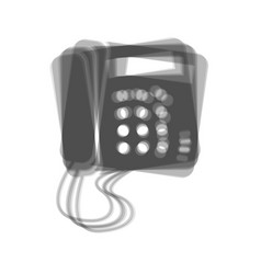 Communication or phone sign gray icon vector