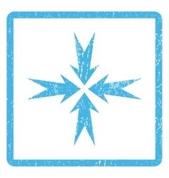 Compression arrows icon rubber stamp vector