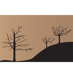 Dead tree background vector image vector image